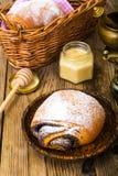 Плюшки с маковыми семененами и сахаром замороженности Стоковое Изображение RF