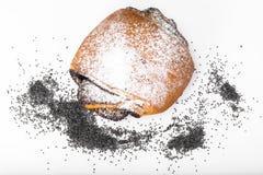Плюшки с маковыми семененами и сахаром замороженности Стоковое Фото