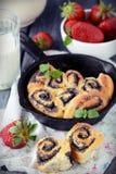 Плюшки с маковыми семененами Стоковая Фотография RF