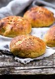 Плюшки с отрубями и linen семенем еда здоровая Стоковое фото RF