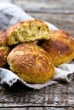Плюшки с отрубями и linen семенем еда здоровая Стоковые Изображения