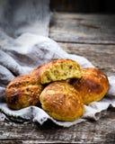Плюшки с отрубями и linen семенем еда здоровая Стоковая Фотография RF