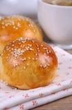 Плюшки с семенами сезама Стоковое Фото