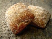 2 плюшки хлеба ciabatta Стоковая Фотография RF