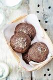 Плюшки черных фасолей с семенами сезама Стоковое Фото