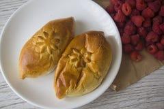 Плюшки для завтрака Стоковая Фотография
