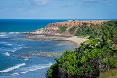 Пляжи Бразилии - пипы, Риу-Гранди-ду-Норти Стоковое Изображение RF