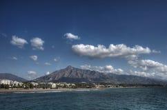 Пляжи Косты del Sol, Марбельи Стоковое Изображение RF