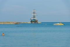Пляжи на береговой линии Стоковое Фото