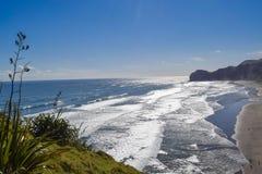 Пляжи Новой Зеландии Стоковое Фото