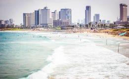 Пляжи Тель-Авив Стоковые Изображения RF