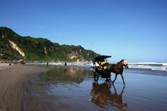 Пляжи Parangtritis красивые Стоковые Изображения RF