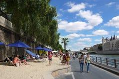 Пляжи Plages Парижа Стоковое Фото