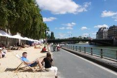 Пляжи Plages Парижа Стоковые Изображения RF
