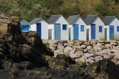 Пляжные домики в Франции стоковые фотографии rf