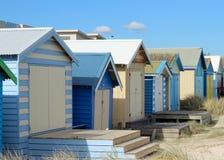 Пляжные домики Стоковые Фото