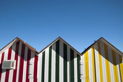 Пляжные домики Allicante Стоковые Фотографии RF