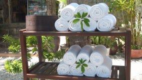 Пляжные полотенца стоковое изображение rf