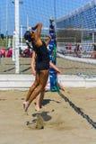 Пляжный волейбол roma игры Стоковые Фотографии RF
