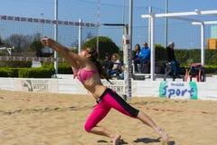 Пляжный волейбол roma игры Стоковые Фото