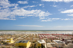 Пляжный комплекс Италия лета моря каникул Стоковое Фото