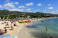 Пляжный комплекс Майорка Новы Palma Стоковые Изображения RF