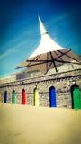 Пляжный комплекс удовольствия острова Барри пустой Стоковые Изображения