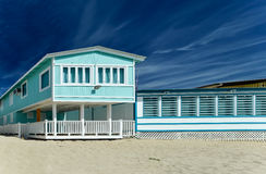 Пляжный домик Aqua Стоковые Изображения