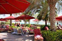 Пляж. Абу-Даби. Стоковые Изображения