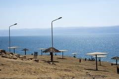 Пляж Аммана мертвого моря Стоковые Изображения