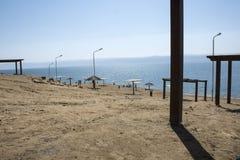 Пляж Аммана мертвого моря Стоковая Фотография RF