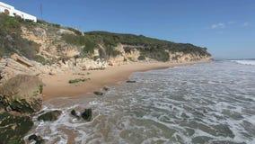 Пляж Атлантического океана в Испании видеоматериал