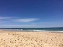 Пляж Аделаиды Австралии, заход солнца Стоковое Изображение