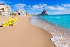 Пляж Аликанте Arenal Bol playa Calpe стоковое изображение rf