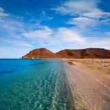 Пляж Альмерии Cabo de Gata Playazo Rodalquilar стоковая фотография