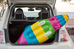 Пляж багажника автомобиля Стоковые Изображения