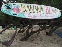 Пляж банана Стоковые Изображения