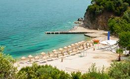 Пляж Бахи, Sithonia, Греция Стоковое Изображение RF