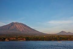 Пляж Бали Индонезия Tulamben Стоковое Изображение