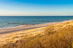Пляж Балтийского моря Стоковая Фотография