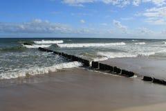 Пляж Балтийского моря Стоковая Фотография RF