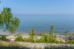 Пляж берега озера Door County Стоковое фото RF