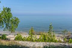 Пляж берега озера Door County Стоковые Изображения RF