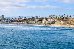 Пляж берега океана Стоковая Фотография RF