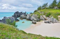 Пляж бирюзы около Саутгемптона, Бермудских Островов Стоковая Фотография