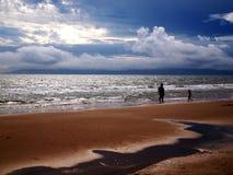 Пляж Борнмута в январе Стоковые Фотографии RF