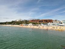 Пляж Борнмута Westcliff стоковая фотография