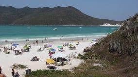Пляж Бразилии сток-видео