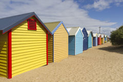 Пляж Брайтона в Мельбурне, Австралии Стоковая Фотография