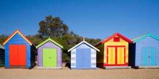 Пляж Брайтона купая коробки Стоковое Изображение RF